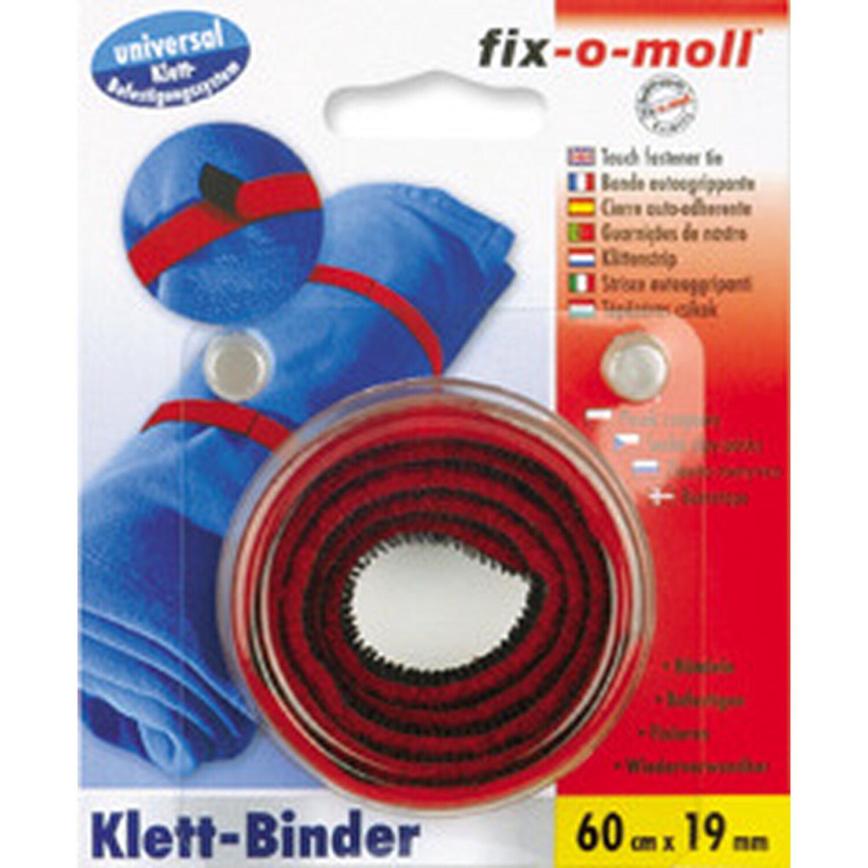 fix o moll fix-o-moll Klett-Binder universal Rot-Schwarz 60 cm x 20 mm