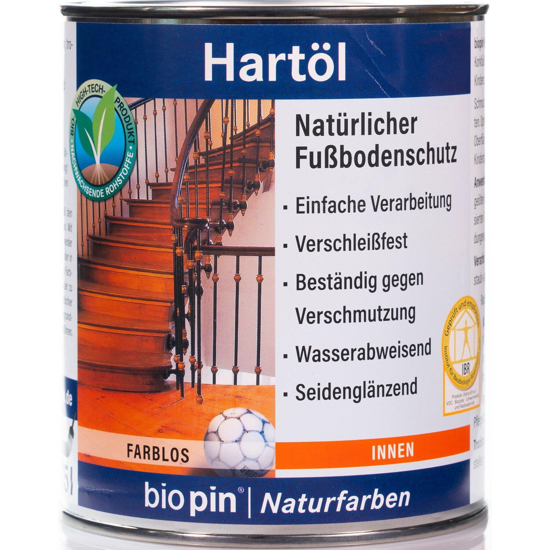Biopin  Natur-Hartöl Transparent seidenglänzend 2,5 l