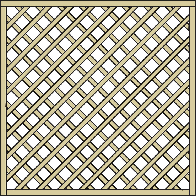 Rankgitter Diagonal Nadelholz Grun Druckimpragniert 180 Cm X 180 Cm