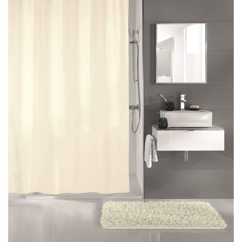 obi duschvorhang uno ecru 180 cm x 200 cm kaufen bei obi. Black Bedroom Furniture Sets. Home Design Ideas