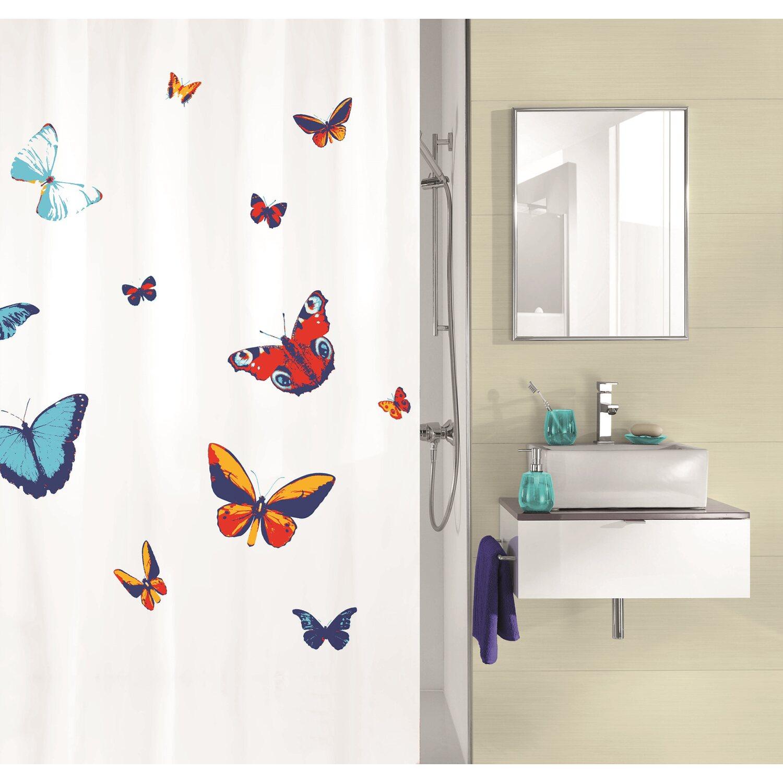 obi duschvorhang farfalla multicolor 180 cm x 200 cm. Black Bedroom Furniture Sets. Home Design Ideas