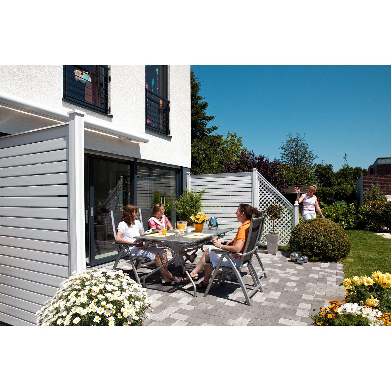 Sichtschutzzaun Element Longlife Novo Design Weiss 180 Cm X 180 Cm