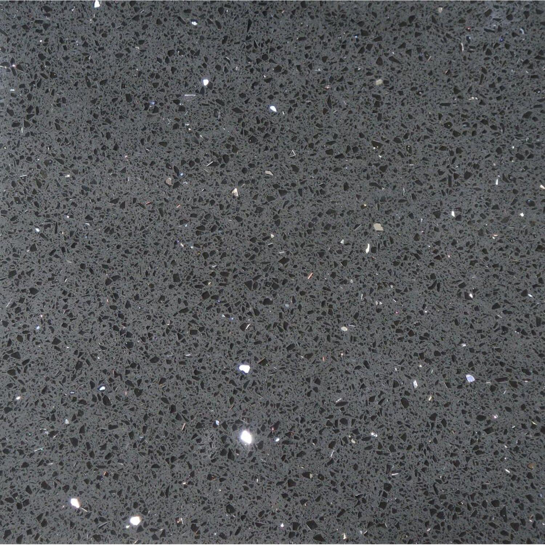 Sonstige Bodenfliese Quarzkomposit Schwarz 30 cm x 30 cm