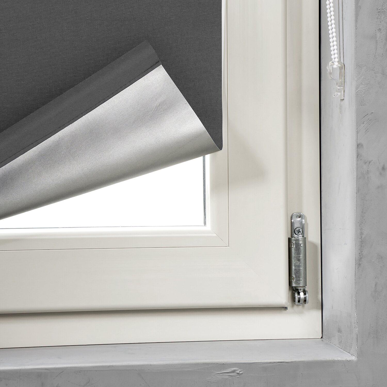 cocoon easy fix rollo verdunklung grau 45 cm x 150 cm kaufen bei obi. Black Bedroom Furniture Sets. Home Design Ideas