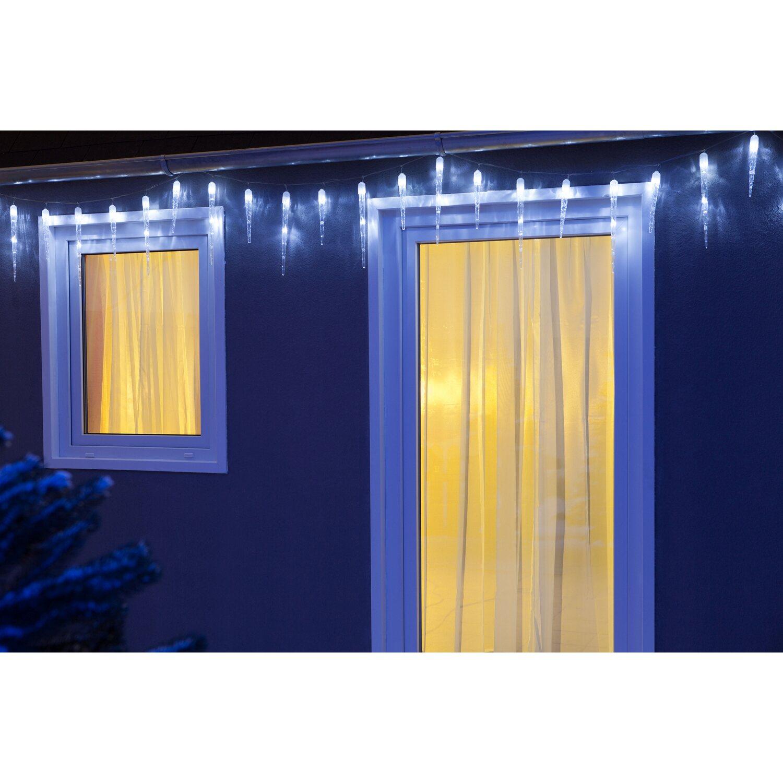 led lichtervorhang eiszapfen 50 kaltwei e leds innen und au en kaufen bei obi. Black Bedroom Furniture Sets. Home Design Ideas