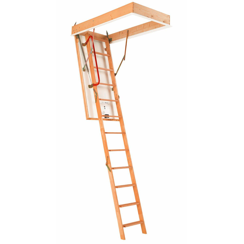 Dolle Bodentreppe Isotrend 3-teilig 120 cm x 60 cm inkl. Handlauf | Baumarkt > Leitern und Treppen > Treppen | Holz | Dolle