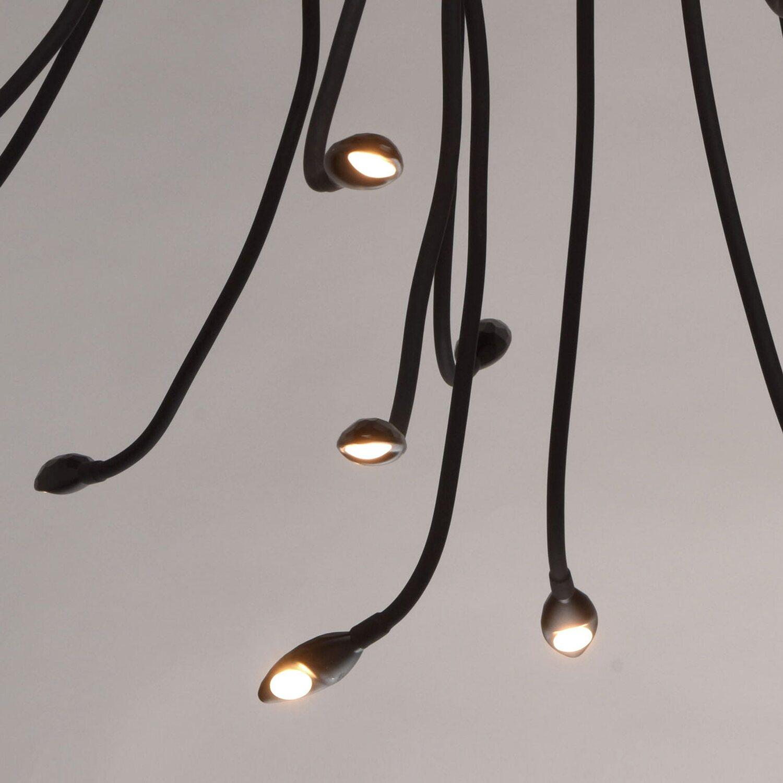 RegenBogen LED-Deckenleuchte Siegen 15-flammig Schwarz EEK: A-A++ ...