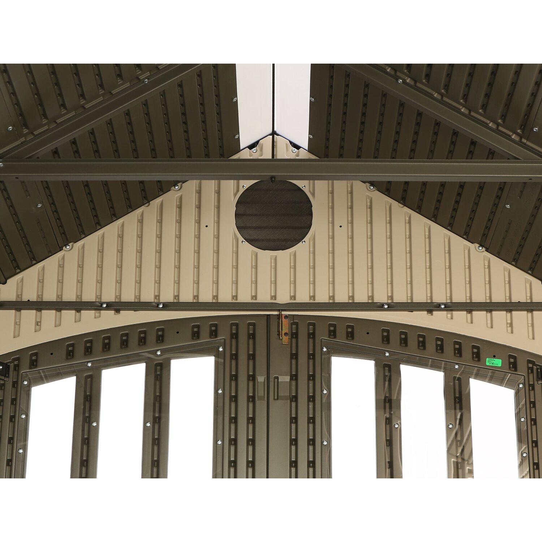 Lifetime Kunststoff Geratehaus Herkules Anthrazit Grau B X T 238 Cm