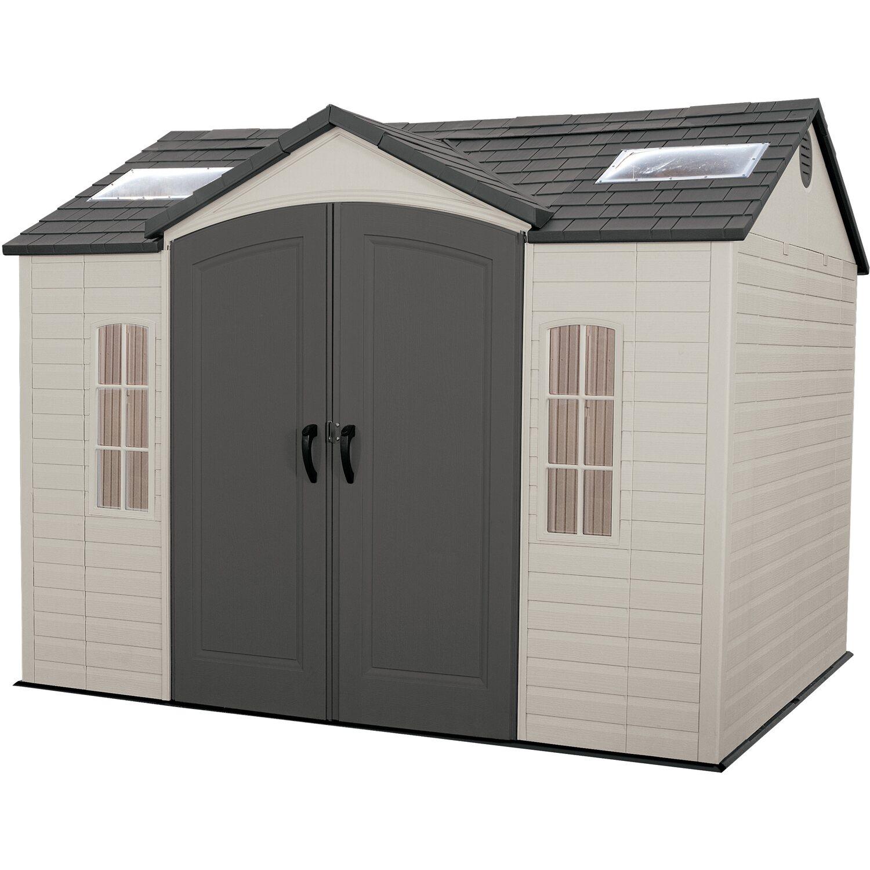 Lifetime Kunststoff-Gerätehaus Sky Anthrazit/Grau B x T: 300 cm x 238 cm | Garten > Gerätehäuser | Anthrazit | Lifetime