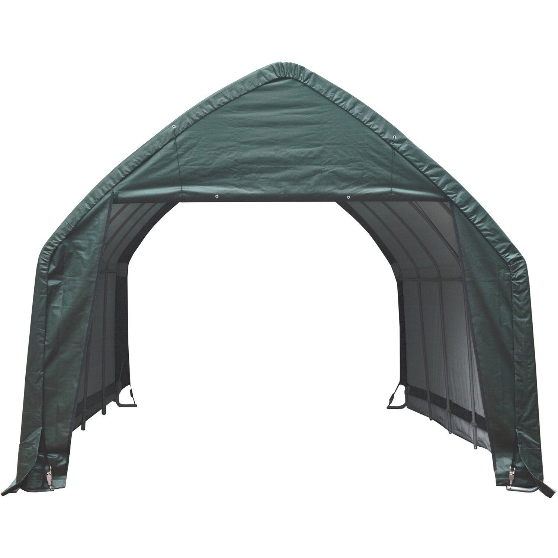 ShelterLogic Garage 23,8m² Grün 390 cm x 610 cm | Baumarkt > Garagen und Carports > Garagen | Stahl | Shelter Logic