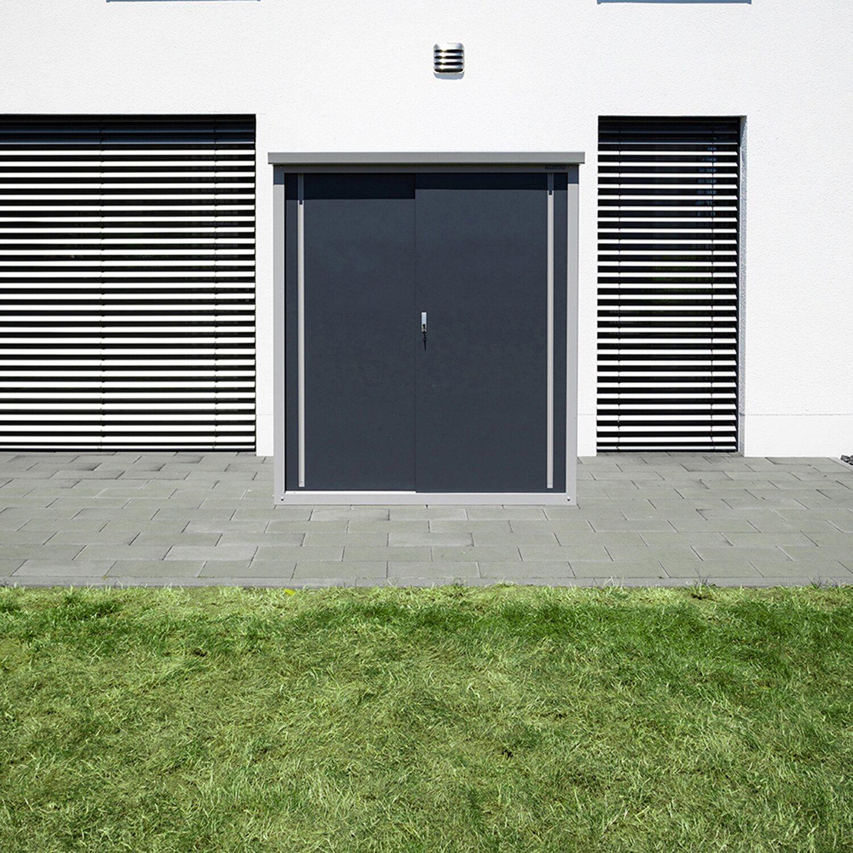 trimetals gartenschrank guardian d63 inkl. boden b x t: 172 cm x 90