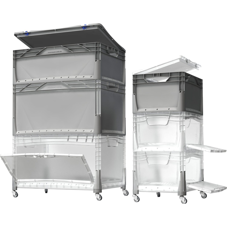 OBI Eurobox-System Tauro Box Flap Side 15 x 15 x 15 cm Transparent