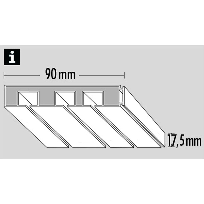 Erstaunlich Gardinia Vorhangschiene 3-läufig GE3 Weiß 120 cm kaufen bei OBI JN04
