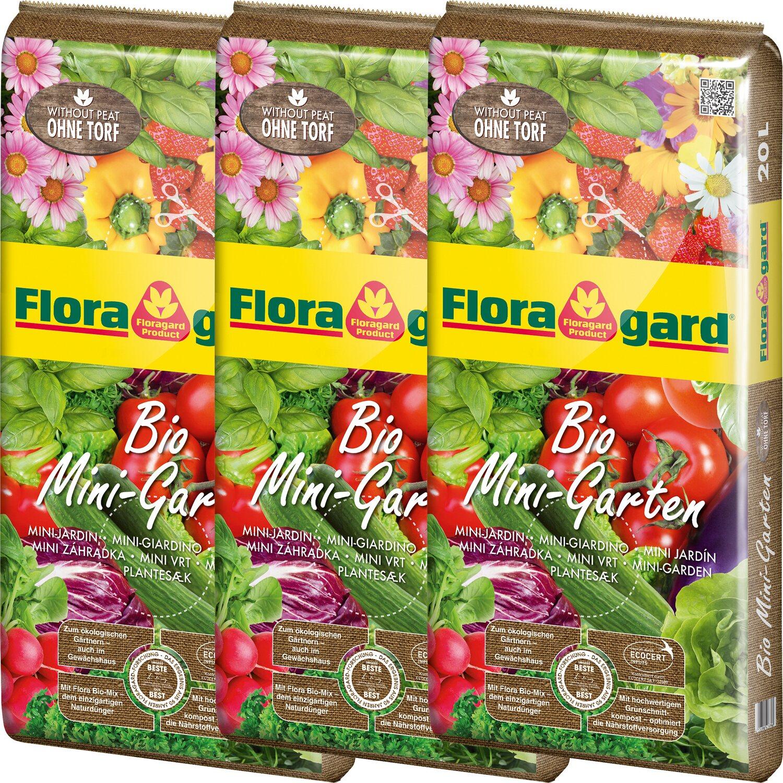 Floragard Bio Mini-Garten 3 x 20 l