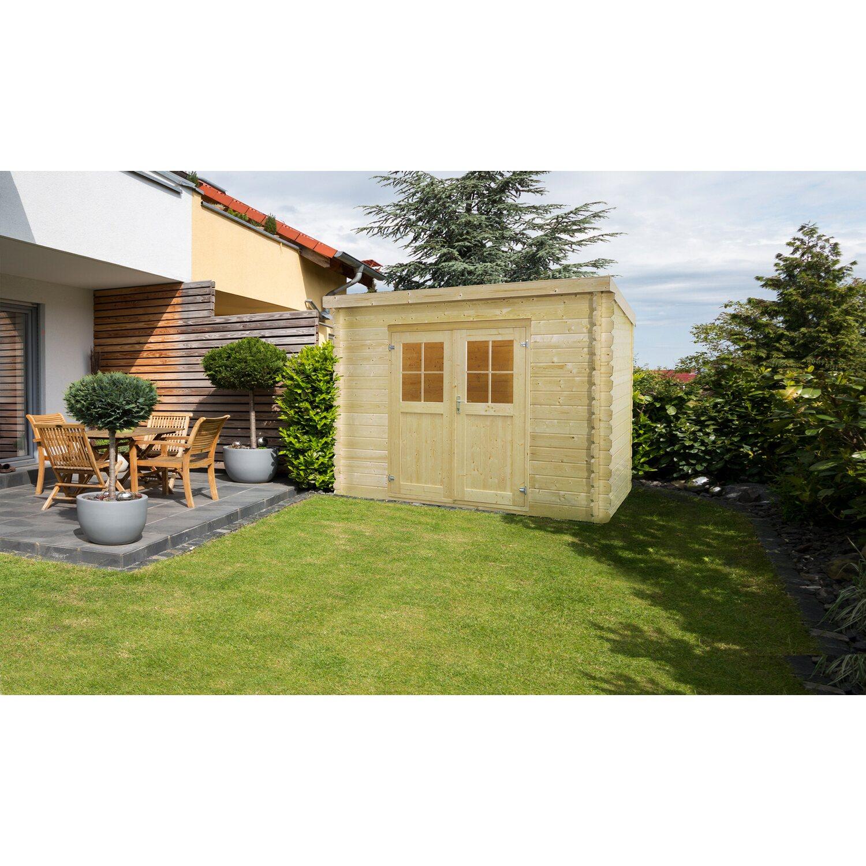 holz gartenhaus werra 3 292 cm x 292 cm kaufen bei obi. Black Bedroom Furniture Sets. Home Design Ideas