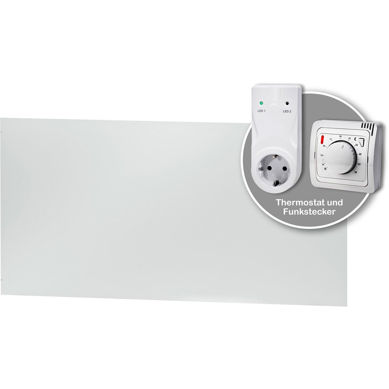 gossmann infrarotheizung classic 670 w mit thermostat set kaufen bei obi. Black Bedroom Furniture Sets. Home Design Ideas