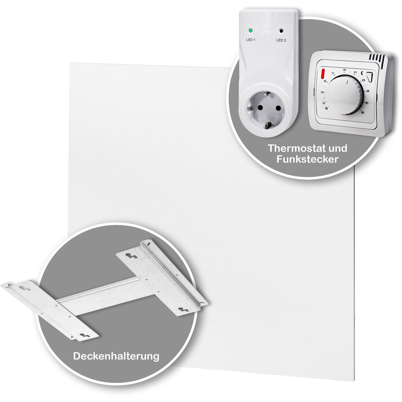gossmann infrarotheizung classic set 340 w mit thermostat und deckenhalter kaufen bei obi. Black Bedroom Furniture Sets. Home Design Ideas