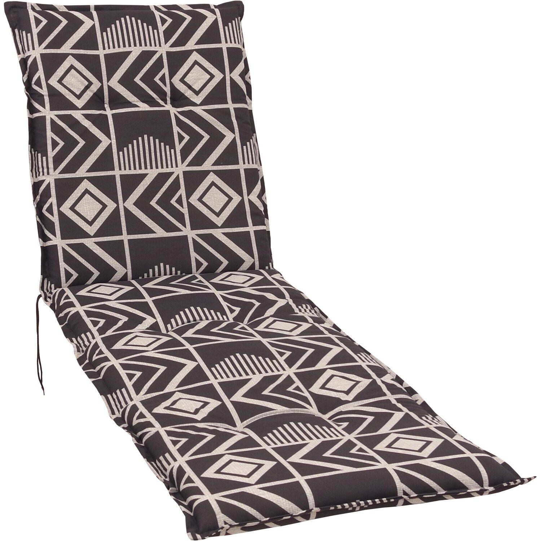 liegen auflage langeoog grafik grau kaufen bei obi. Black Bedroom Furniture Sets. Home Design Ideas
