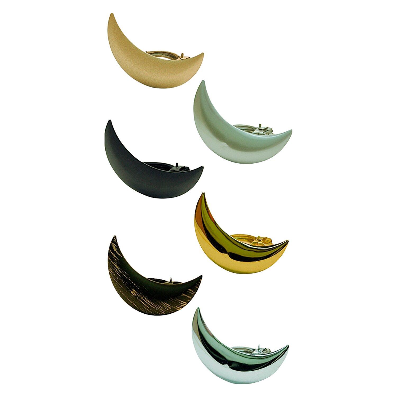 Gardinia Dekoklammer Moon Silber matt