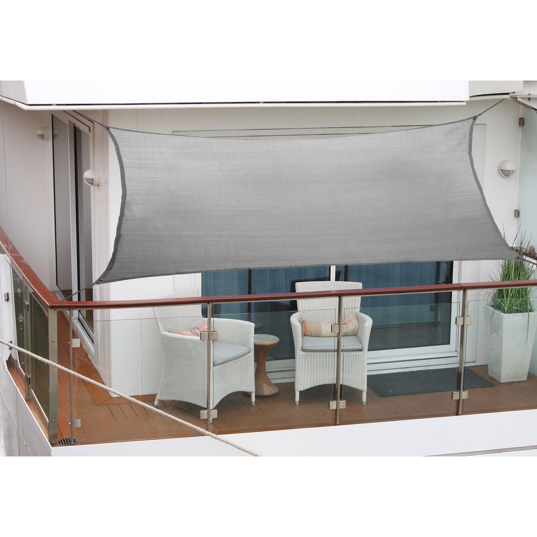 attraktiver Stil Bestbewertet authentisch bester Ort für Floracord Balkonsonnensegel Anthrazit 270 cm x 140 cm