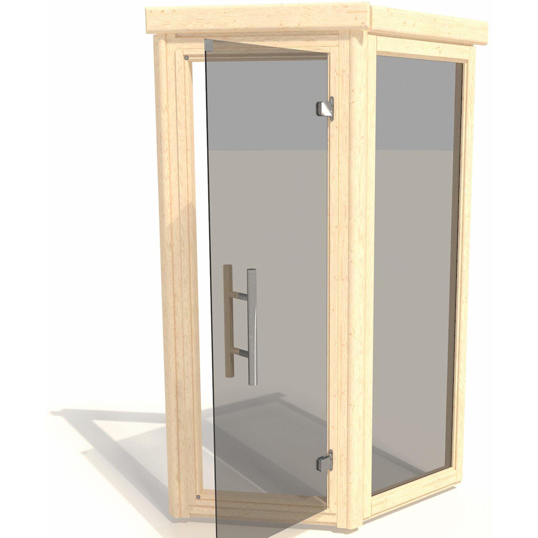 weka massivholzsauna bergen 2 glast r und fenster set 198x198x203 kaufen bei obi. Black Bedroom Furniture Sets. Home Design Ideas