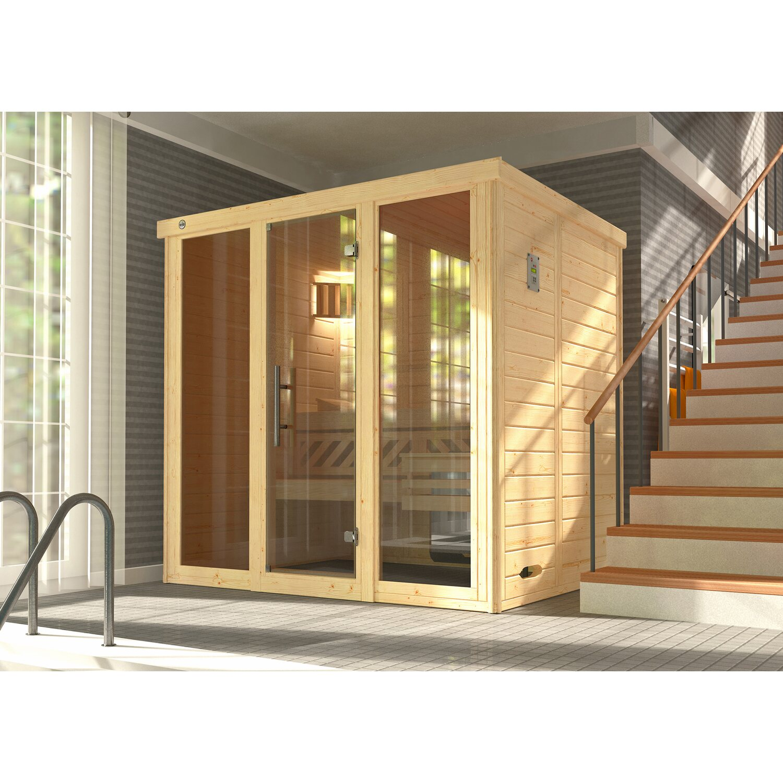 weka massivholzsauna elementsauna kemi gr 2 glast r und 2 fenster kaufen bei obi. Black Bedroom Furniture Sets. Home Design Ideas