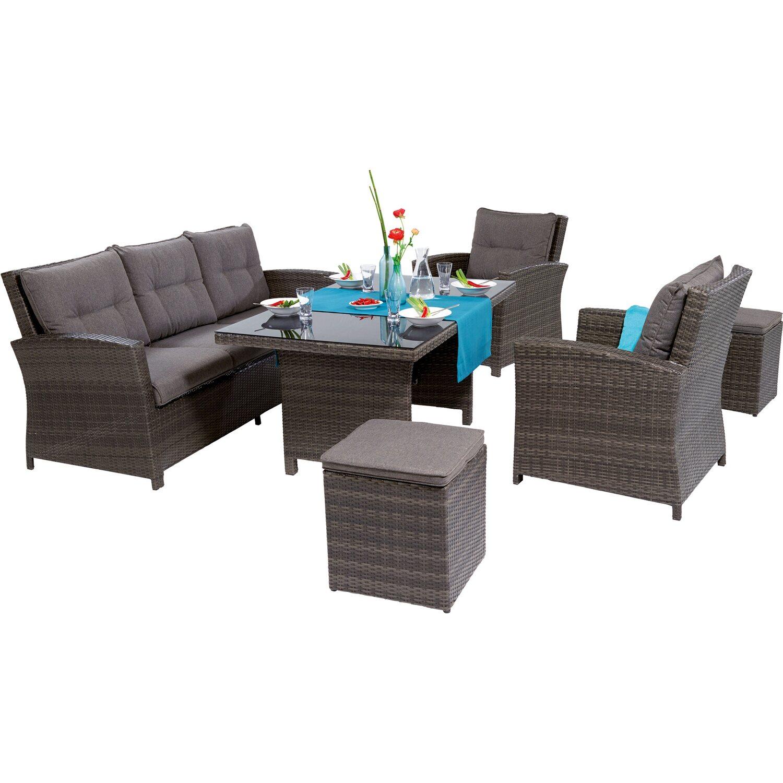 obi esstisch lounge gruppe vermont 6 teilig kaufen bei obi. Black Bedroom Furniture Sets. Home Design Ideas