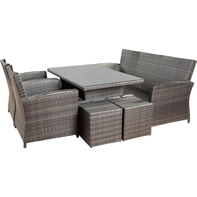 OBI Esstisch-Lounge-Gruppe Vermont 6-teilig kaufen bei OBI