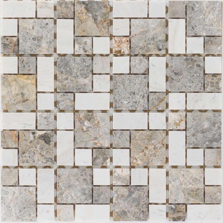 Marmormosaik Golden Vein Milky White 30,5 cm x 30,5 cm | Baumarkt > Wand und Decke > Fliesen | White