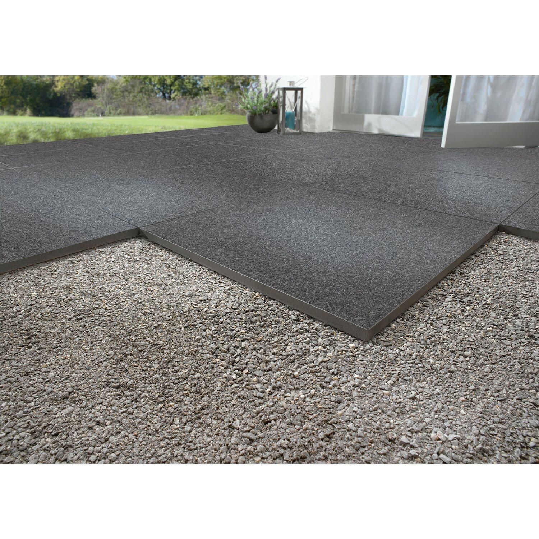 Terrassenplatte Feinsteinzeug Granito Black 2000 x 2000 x 200 cm 200 Stück ...