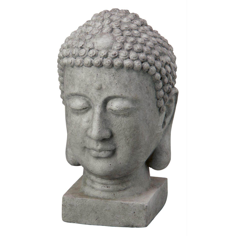 buddha kopf 20 cm dunkelgrau kaufen bei obi. Black Bedroom Furniture Sets. Home Design Ideas