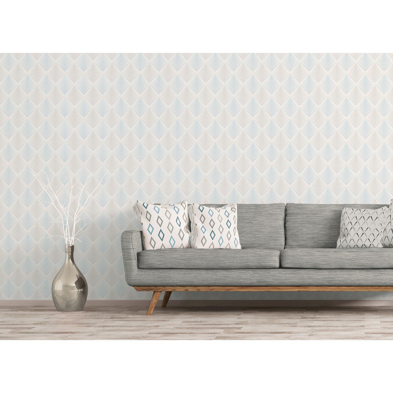 Vliestapete Design Muster Silber Grau Metallic 0