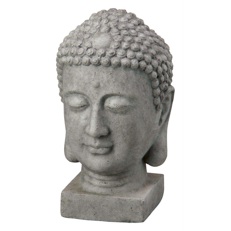 buddha kopf 38 cm dunkelgrau kaufen bei obi. Black Bedroom Furniture Sets. Home Design Ideas