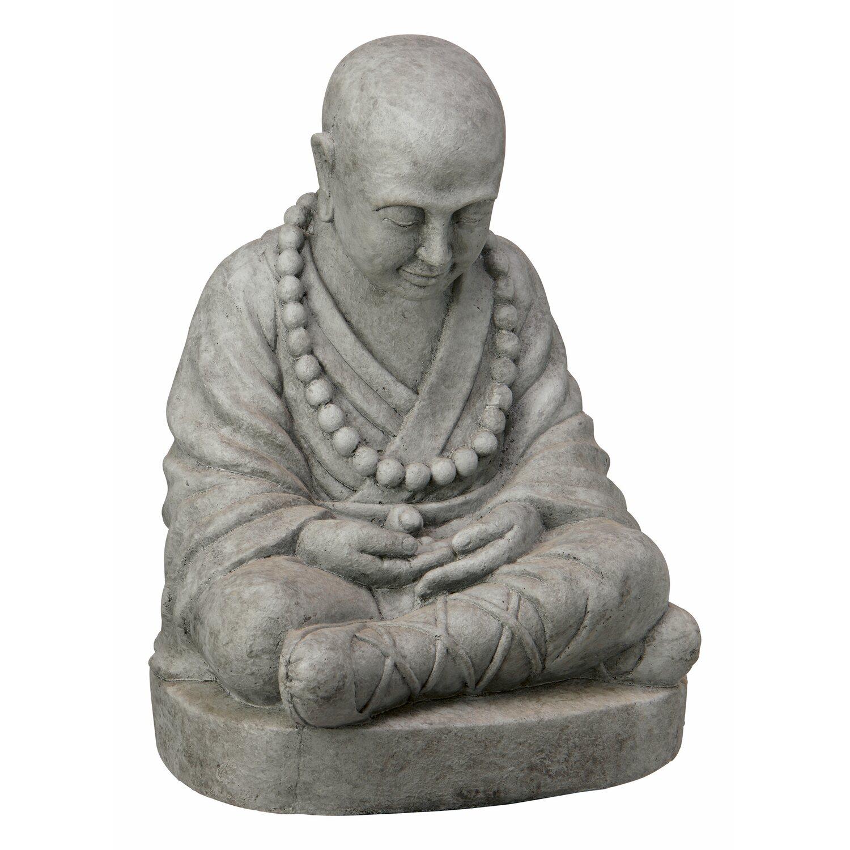buddha sitzend 47 cm dunkelgrau kaufen bei obi. Black Bedroom Furniture Sets. Home Design Ideas