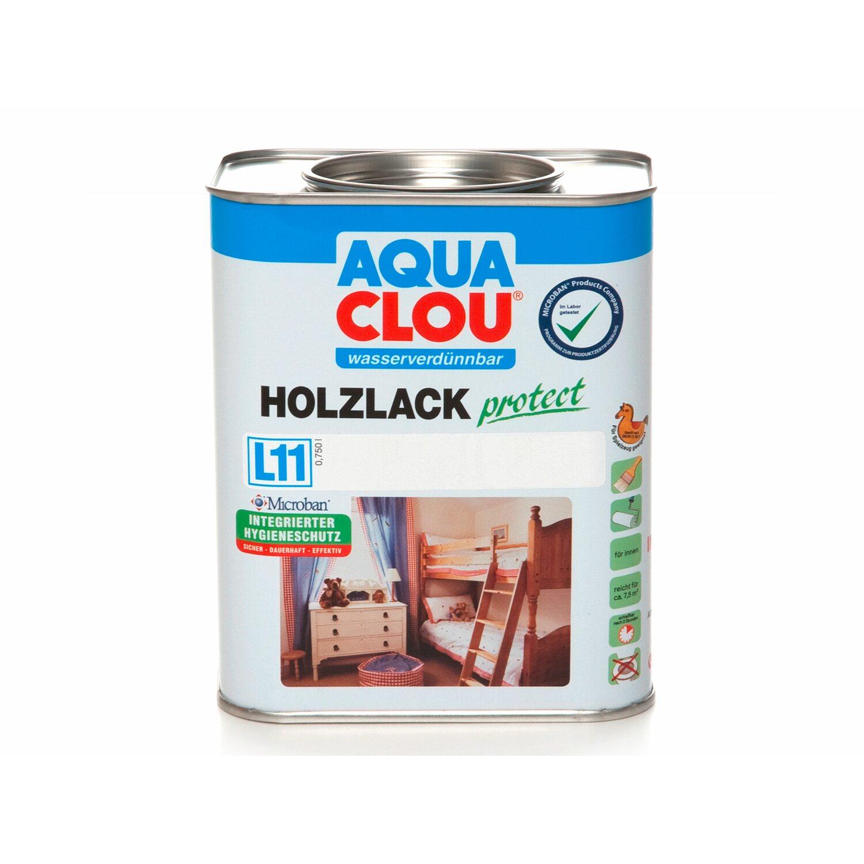 CLOU Aqua Clou Holzlack Protect Transparent seidenglänzend 750 ml