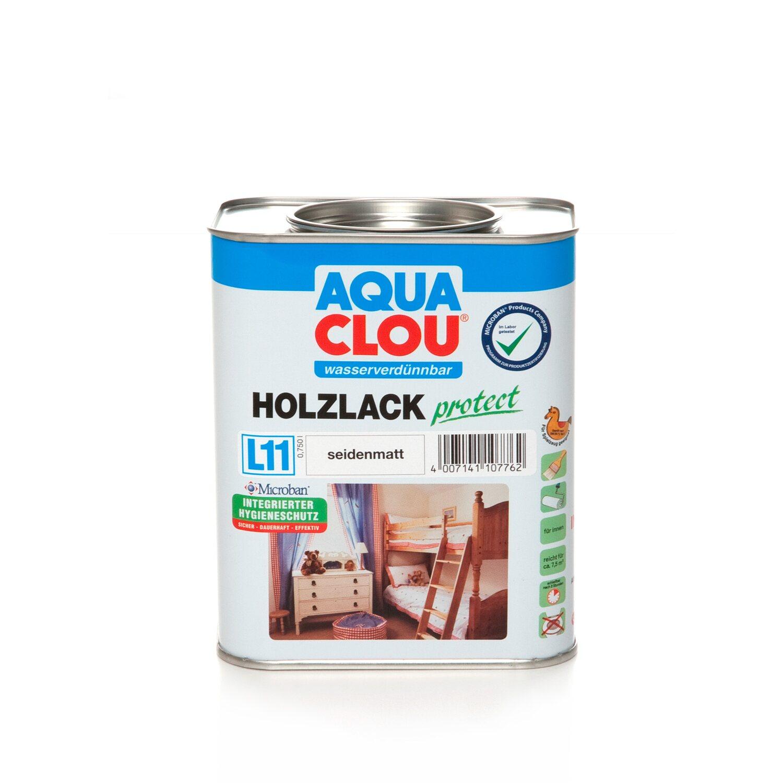 CLOU Aqua Clou Holzlack Protect Transparent seidenmatt 750 ml