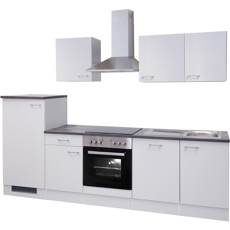 Flex-Well Küchenzeile Lucca 280 cm Weiß kaufen bei OBI