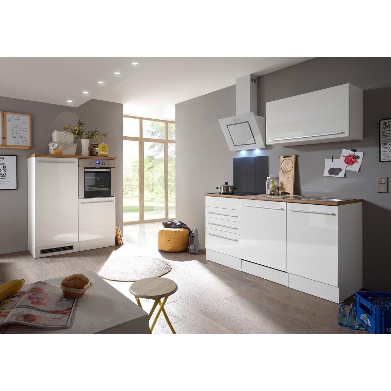 Respekta Premium Küchenzeile 290 cm Weiß Hochglanz kaufen bei OBI