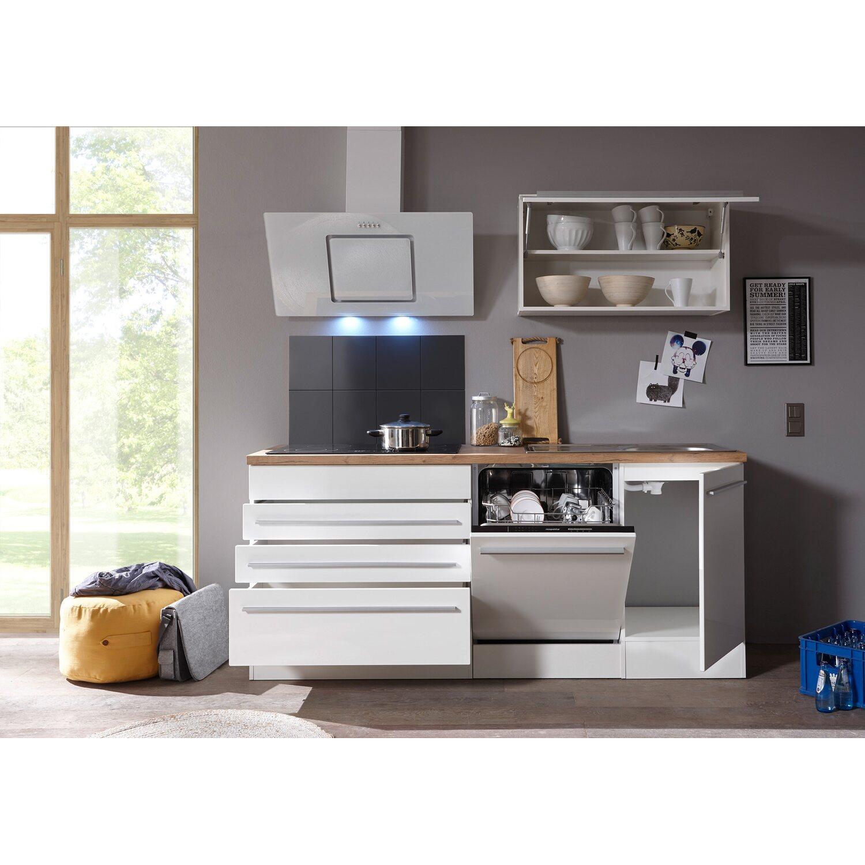 respekta premium k chenzeile 320 cm wei hochglanz kaufen bei obi. Black Bedroom Furniture Sets. Home Design Ideas