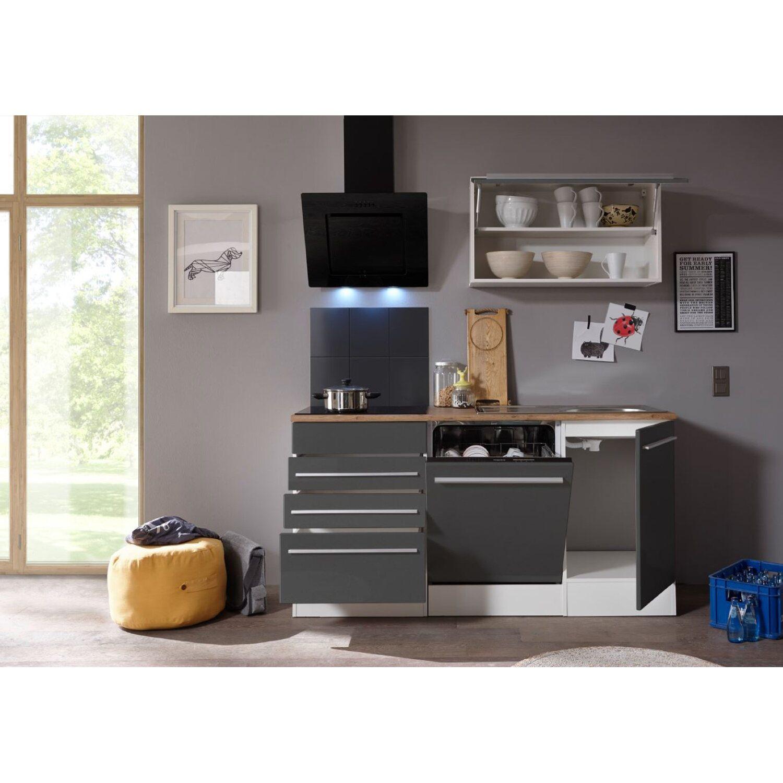 respekta premium k chenzeile 290 cm grau wei kaufen bei obi. Black Bedroom Furniture Sets. Home Design Ideas