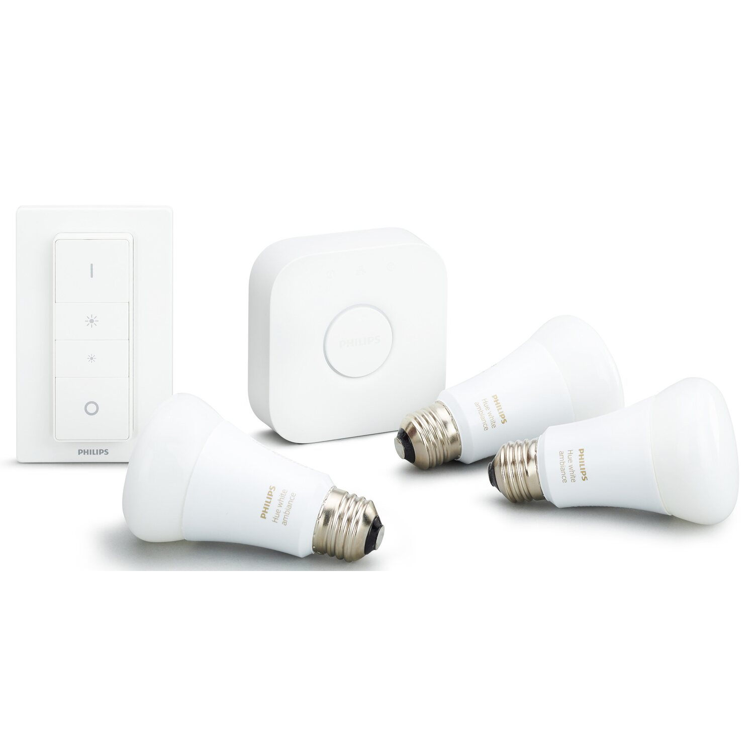 philips hue led lampe white ambiance starter kit e27 9 5 w eek a kaufen bei obi. Black Bedroom Furniture Sets. Home Design Ideas