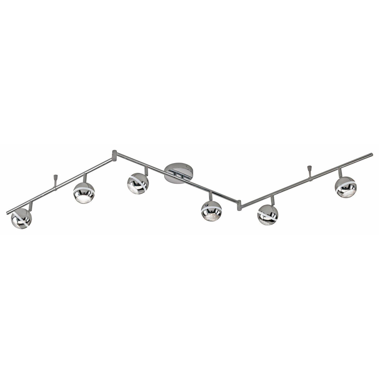 Trio LED-Spot 6er Chrom EEK: A