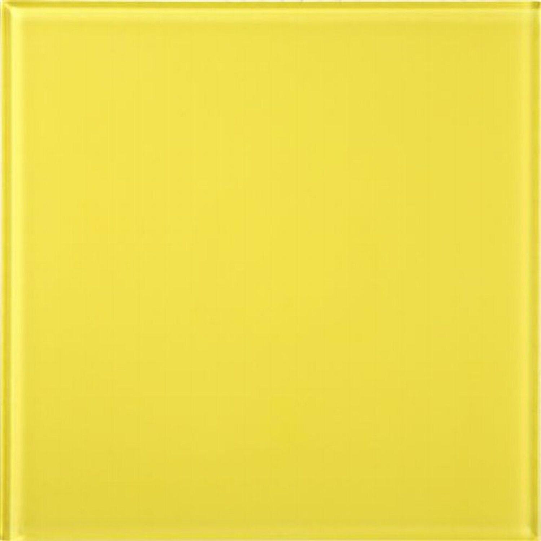 Wandfliese Glas Glossy Gelb 15 cm x 15 cm | Baumarkt > Wand und Decke > Fliesen