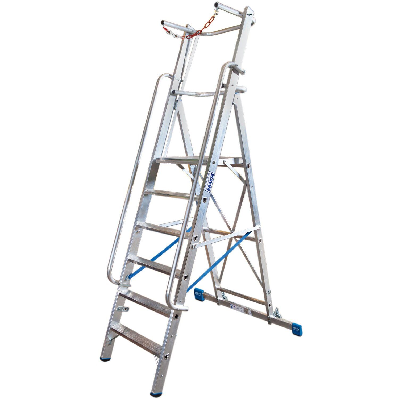 Krause Stabilo Stufen-Steh-Leiter mit Plattform & Sicherheitsbügel 9 Stufen   Baumarkt > Leitern und Treppen > Stehleiter   Krause