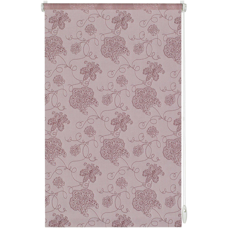 Gardinia EasyFix Rollo Dekor Stickerei 45 cm x 150 cm Rosa | Heimtextilien > Gardinen und Vorhänge > Gardinenstangen | Polyester | Gardinia