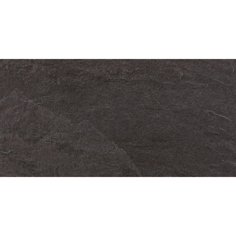 Feinsteinzeug Slate Black matt 30 cm x 60 cm | Baumarkt > Wand und Decke > Fliesen | Black | Feinsteinzeug