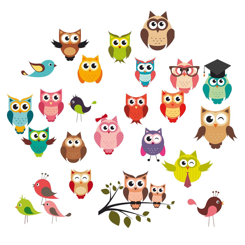 Eurographics EUROGRAPHICS Wandsticker »Funny Owls«