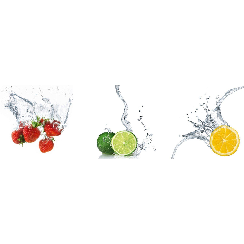 Eurographics EUROGRAPHICS Wandsticker »Splashing Fruits »