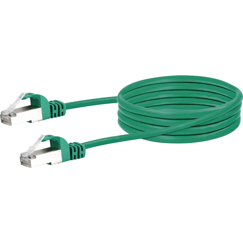 Schwaiger Lan-Netzwerkkabel mit 1000 Mbits Datentransferrate 0,5 m Grün