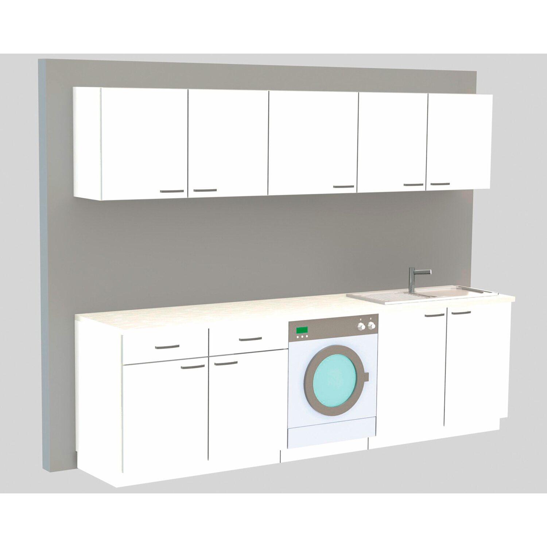 Unterschrank Klassik 60 Weiß 100 cm mit Arbeitsplatte kaufen bei OBI